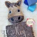 Horse 'Ruggybud' - personalised, comforter, keepsake, lovey.