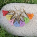 Dancing Flower Earrings - choose your rainbow colour