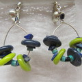 Clip on hoop glass earrings