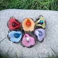 Fairy Petticoat Flower Earrings - choose your rainbow colour
