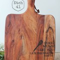 Personalised Etched Timber Acacia Boards -Lick The Beater