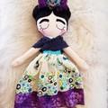 Frida doll - handmade cloth doll