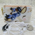 Coin Purse - Women's/Girls for Coins, Cards,Jewellery, Airpods - Floral Giraffe