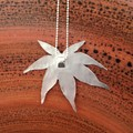 A Japanese Maple Leaf Necklace in recycled silver