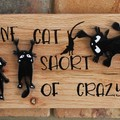 Crazy Cat Lady Reclaimed Timber Sign