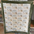 Baby Coverlet / Play Mat / Baby Cot Quilt / Nursery Bed in Lions Pride Print