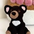 Tasmanian Devil softie, FREE DELIVERY, Australian animal, crochet toy, baby toy