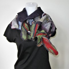 Felted Scarf Wrap Neck Scarves Purple Very Light