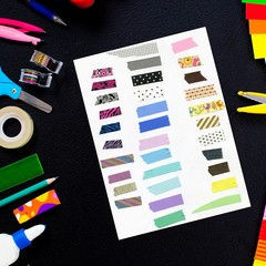 Digital Washi tape pieces made from the real thing digital download