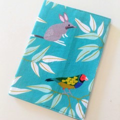 Passport Cover / AUSTRALIAN ANIMAL -  Bilby, Platypus x Teal / Bushfire Support