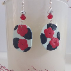 Navy & Red Everyday Fashion Earrings