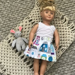 HANDMADE 'Our Generation Doll' Skirt and Singlet Set