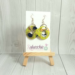 Polymer Clay Disc Floral Earrings