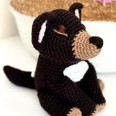 Tasmanian Devil softie, FREE DELIVERY, Australian animal, crochet toy, baby toy