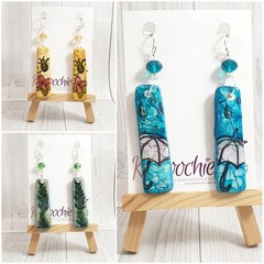 Hand Painted Polymer Clay Earrings
