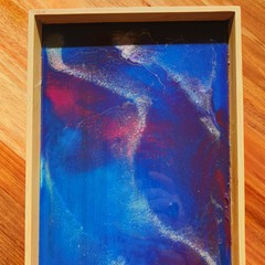 Handmade resin trinket tray - imperfect