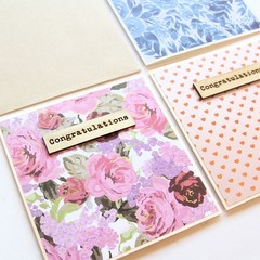 Handmade Congratulations Card, Graduation Card, Baby Card, Retirement Card