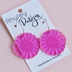 Hot Pink Bloom Earrings