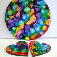 RESIN  HEART Coasters & Place mats  & Order Form for more! JAZZ UP YOUR LIFE....