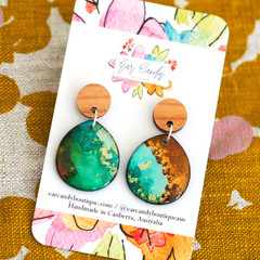 Hand-Painted Petite Teardrop Earrings