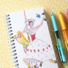 Handmade Notebook, Sketch Book, Journal, Diary, Fashion Illustration