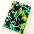 Passport Cover / AUSTRALIAN NATIVE PLANTS - Yellow x Black /