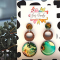 Hand-Painted Statement Dangle Earrings