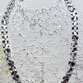 Silver Dumbbell Bead Necklace made from synthetic Hematite