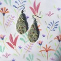 Polymer Clay Earrings - Statement Earrings Abstract Flowers