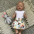 HANDMADE 'Baby Born' Skirt and Singlet Set