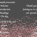 ROSE GOLD CONFETTI ORDER OF SERVICE