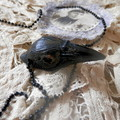 Gothic, Raven Pendant... Memento Mori