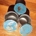 Handmade resin art storage tins - imperfects