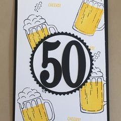 Birthday Handmade Card  - 21st, 30th 40th, 50th