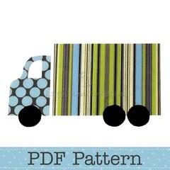 Truck Applique Template, Lorry, Transport, DIY, PDF Pattern for Children, Boys
