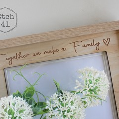 Photo Frame Pine Etched Personalised For Any Occasion