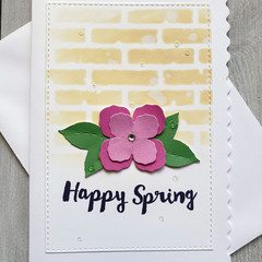 Happy Spring Handmade Card
