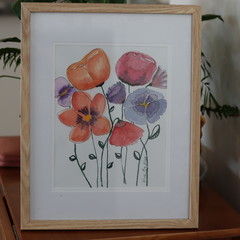 Bright Flowers in Watercolour