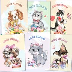 Birthday Animal Fun Card Front Set