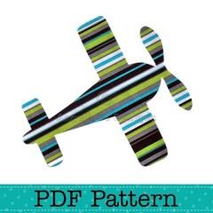 Aeroplane Applique Template, Aircraft, Transport, DIY, PDF Pattern, Children