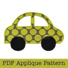 Car Applique Template, Vehicle, Transport, DIY, PDF Pattern for Children, Boys