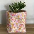 Small fabric planter | Storage basket | VINTAGE FLORALS