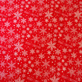 Red and White Merry Christmas fabric - Christmas Cotton Fabric