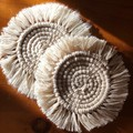 Macrame Coasters - Natural