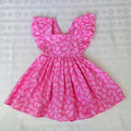 Pink Ruffle Tie Back Dress - Size 3 kids dress.