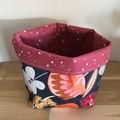 Small fabric planter   Storage basket   NATIVE FLOWERS