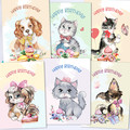 Birthday Animal Fun Card Front Set