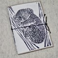 Mini handmade recycled paper notebook with blank pages