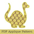 Dinosaur Applique Template, Animal, DIY, PDF Pattern for Children, Boys