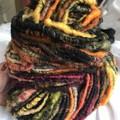 Handspun yarn, mixed earthy autumn shades , Australian Wool, 130 grams 96 yards